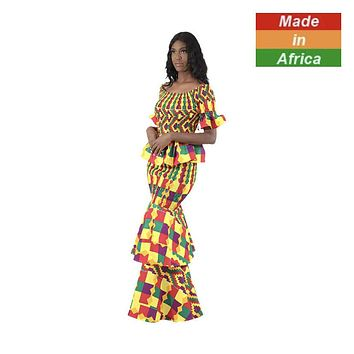 """Made in Africa"" Kente 2-Piece Elastic Skirt Set (#2)"