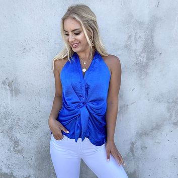 Truly Stunning Blue Halter Top