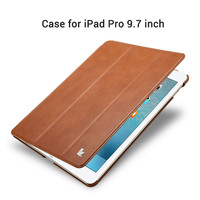 Jisoncase Case for iPad Pro 9.7 PU Leather for iPad Pro 9.7 Smart Cover Stand Luxury Brand Covers & Cases