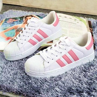 """""""Adidas"""" Fashion Shell-toe Flats Sneakers Sport Shoes Pink"""
