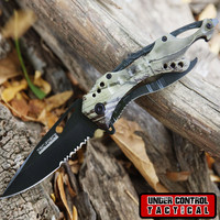 "8"" Camo Tactical Spring Assisted Knife"