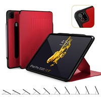 ZUGU CASE (New Model) Alpha Case for 2020 iPad Pro 12.9 inch - Ultra Slim Protective Case - Wireless Apple Pencil Charging - Convenient Magnetic Stand & Sleep/Wake Cover (Red) Red