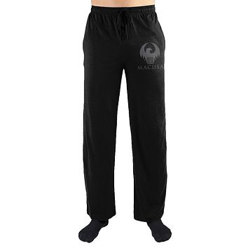 Harry Potter Magical Congress of the United States of America MACUSA Eagle Crest Print Mens Loungewear Lounge Pants