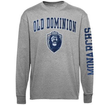 Old Dominion Monarchs Arch & Logo Long Sleeve T-Shirt - Gray