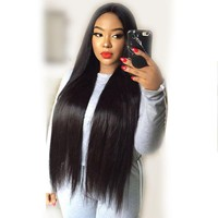 250% Density Straight Lace Front Human Hair Wigs For Women Black Color Pre Plucked Brazilian Remy Hair Full 13X4 Lace Wig