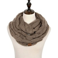 Cashmere  Knitted Infinity Scarves