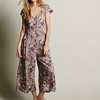 Free People Womens Autumn Culotte One Piece - Taupe,