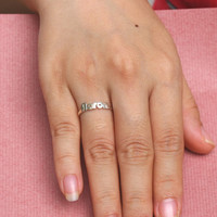 Minimalist Jewelry - Handcrafted Name Ring - Bridesmaids Gift - Sterling Silver
