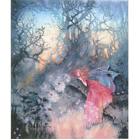Red Fairy Canvas Print - New Age, Spiritual Gifts, Yoga, Wicca, Gothic, Reiki, Celtic, Crystal, Tarot at Pyramid Collection