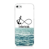 I Refuse to Sink Waves Case Hard Cover for Iphone 5c 2013 New