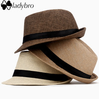 Women Hat For Men Hat Ladies Summer Beach Cap Sun Hat Female Panama Straw Male Gangster Trilby Fashion Sun Cap