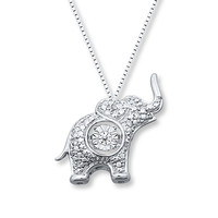 Diamonds in Rhythm 1/20 ct tw Necklace Sterling Silver