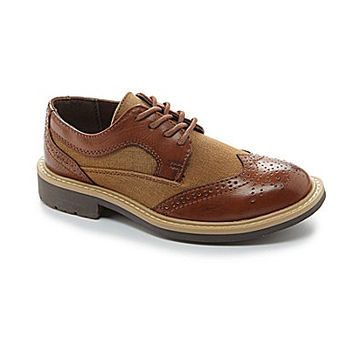 Kenneth Cole Reaction Boys' Take Fair Wingtip Loafers - Cognac