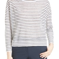 Theory | Trinella Stripe Linen Blend Top | Nordstrom Rack