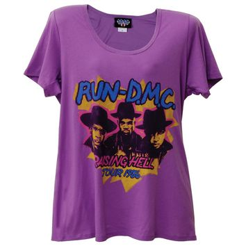 Run DMC - Raising Hell Juniors Boyfriend T-Shirt