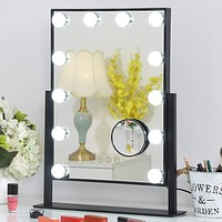 Hansong Large Hollywood Makeup Vanity Mirror with Lights,Plug in Light-up  |  gold