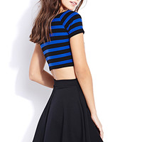 FOREVER 21 Sweet Stripes Crop Top