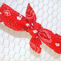 Baby Toddler Pre-tied Head Scarfs Red Bandana Baby Headband Hair Accessory