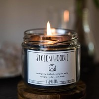 Stolen Hoodie Candle - Smells Like Cologne, Cedar & Chill Mode