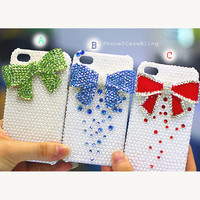 iPhone 4 case, iPhone 4s case, iPhone 5 case, Cute iphone 4 case, pearl iphone 5 bow case, bling iphone 4 case, cute iphone 5 case bow