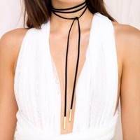 black leather bow choker DIY necklace