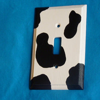 Decorative Wood Light Switch Cover Plate Cow by EssenceOfTheSouth