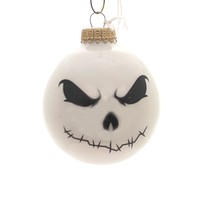 Holiday Ornaments HALLOWEEN SCARY FACES Glass Spooky 710023A White
