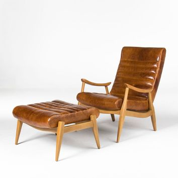HANS LEATHER CHAIR by Dwell Studio