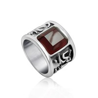 Stylish New Arrival Shiny Gift Gemstone Titanium Men Jewelry Ring [6526797379]