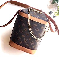 LV Milk Box 2020 New Vintage Presbyopia Bucket Crossbody Bag
