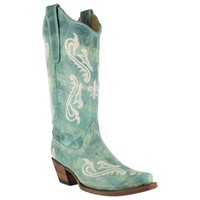 Corral Women's Cortez Cliff Embroidered Western Boots