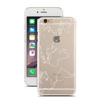 Outline World Map - Doodle World Map - Geometric World Map - Wanderlust - Travel - Super Slim - Printed Case for iPhone - S013