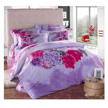Cotton Active floral printing Quilt Duvet Sheet Cover Sets 2.0M/2.2M Bed Size 61
