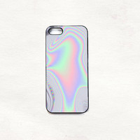 Pastel Metallic Oil Print iPhone 5 5s 4 4s Hard Case Black/White/Transparent Grunge Indie Hipster Tropical Summer Tumblr One direction 5sos
