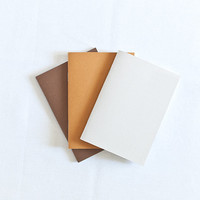 Pastel set of beige, brown and chocolate handmade notebooks (journals)
