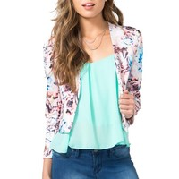 Floral Water Color Blazer