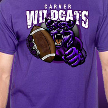 Carver Wildcats Football T-Shirt