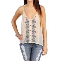 Ivory Braided Straps Top