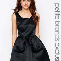 True Decadence Petite Satin Mini Prom Dress