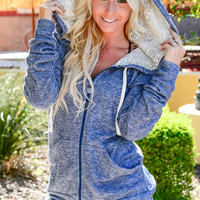 KEEP UP LACE HOODIE IN BLUE