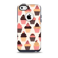 The Yummy Subtle Cupcake Pattern Skin for the iPhone 5c OtterBox Commuter Case