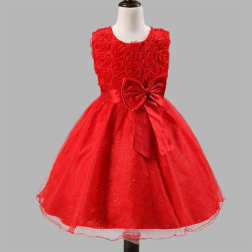 Z&Y 2017 Summer Dress for Baby Party Dress Infant Girls Flower Girl Dresses Kids Clothes Fancy Tulle Dress Carnival Costume C5