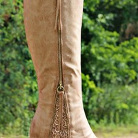 Southern Sass Boots - Wide Calf - Taupe