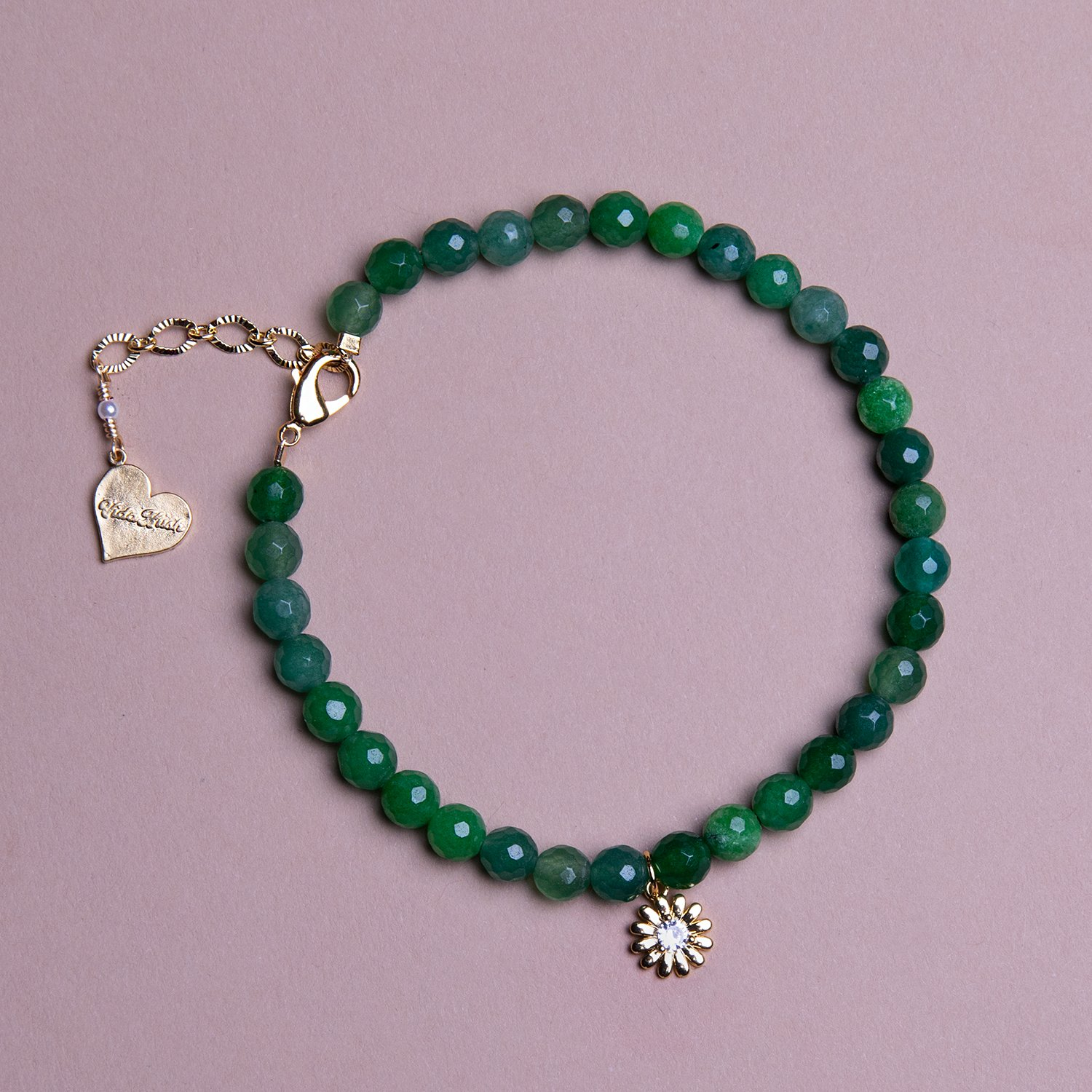 Image of Jade Daisy Anklet
