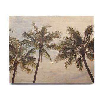 "Catherine McDonald ""Boho Palms"" Coastal Trees Birchwood Wall Art"