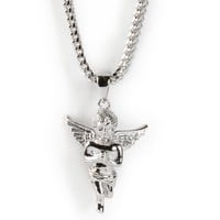 The Gold Gods Angel White Gold Necklace