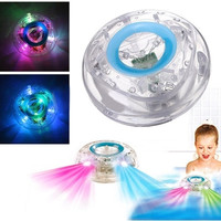 Bathroom LED Light Toys Kids Funny Children Bathing Toys Waterproof in Tub (Color: White) = 1946041284
