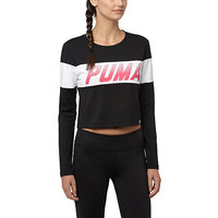 Puma - Speed Font LS Long Sleeve Top - Puma Black