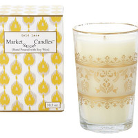 Moroccan Gold Lace Candle, Honeysuckle, Filled Candles