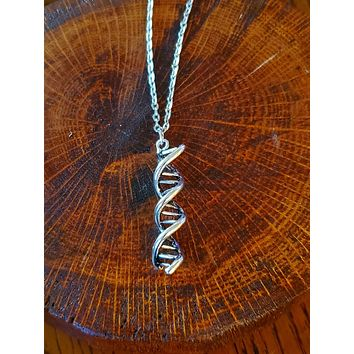 DNA Necklace. Fashion Necklace.